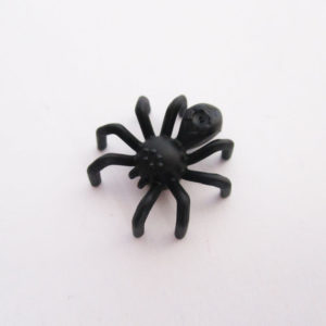Spider w/ Elongated Abdomen - Black