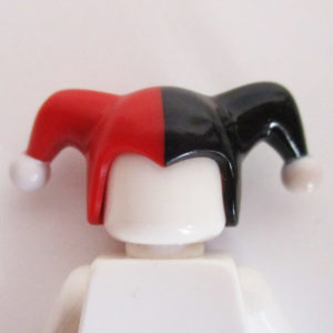 Jesters Cap - Red & Black w/ White