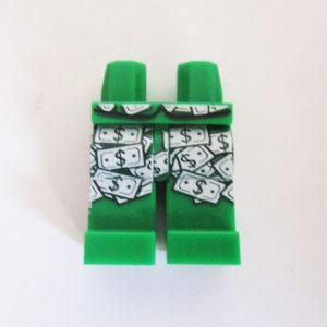 Green w/ Dollar Bills Design