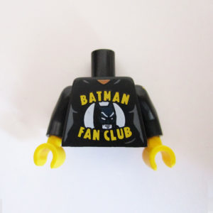 "Black w/ Batman Head & ""Batman Fan Club"""
