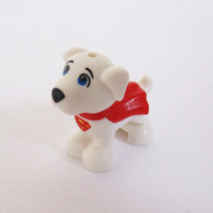 SuperDog - White w/ Superman Logo & Red Cape
