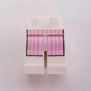 White w/ Pink Striped Apron