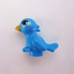 Birdie - Azure Blue w/ Silver Around Eyes
