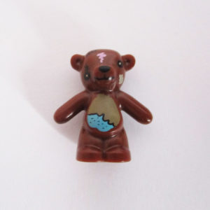 Teddy Bear - Dark Brown w/ Blue Patch & Torn Eye