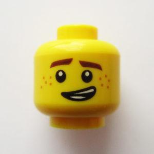 Dual Sided Head - Awkward Grin w/ Freckles & Straight Face