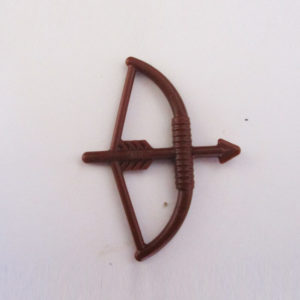 Vintage Bow & Arrow, Type 2 - Brown