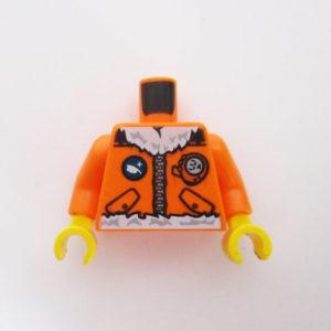Orange Jacket w/ Pockets & White Fur Collar