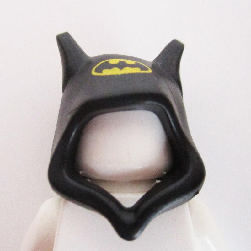 "Black w/ Ears & Yellow ""Batman"" Symbol"
