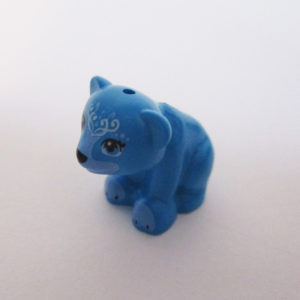 Bear - Azure Blue w/ White