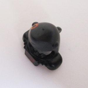 Shark Mask & Shoulder Pads - Black w/ Low Battery Symbol