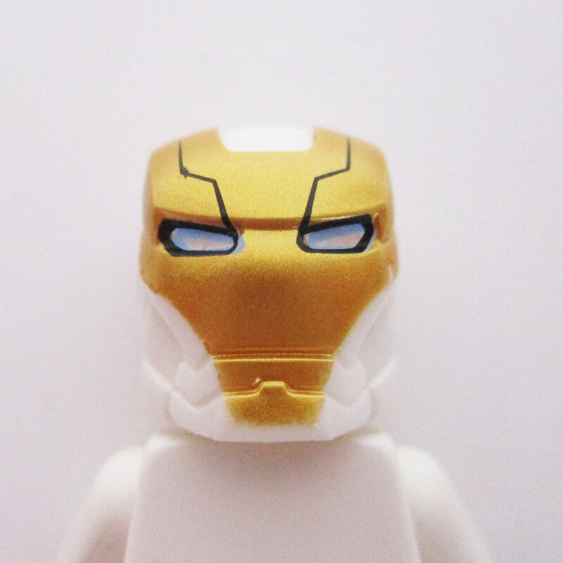 Ironman® Helm w/ Hinge - White & Gold