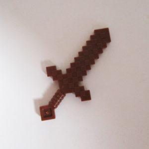 Pixel Sword, Minecraft - Brown