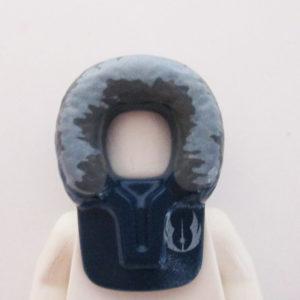 Fur Hood - Dark Blue w/ Grey & Jedi Order Insignia