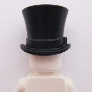 Large Top Hat w/ Ribbon - Black