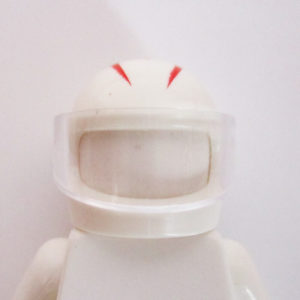 "Standard Helm - White w/ Red Stylized ""M"""