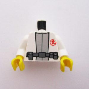 White & Grey w/ Utility Belt & Red Symbol