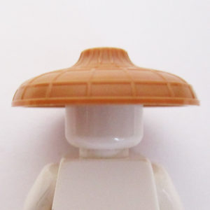 Asian Conical Hat w/ Raised Center - Light Brown