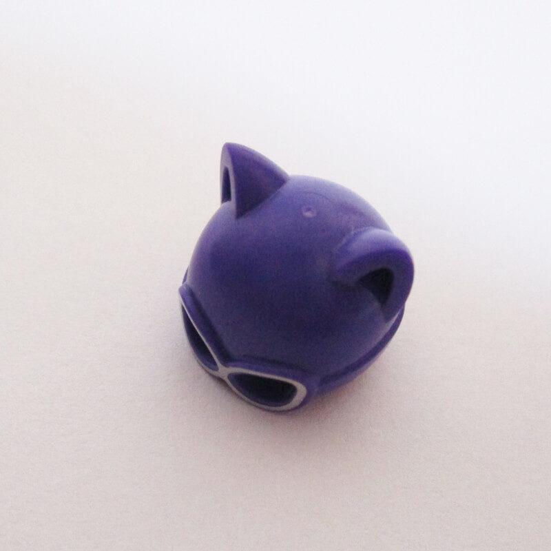 Catwoman Mask - Purple w/ Silver Goggles