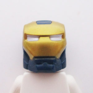 Ironman® Helm w/ Hinge - Dark Blue & Gold