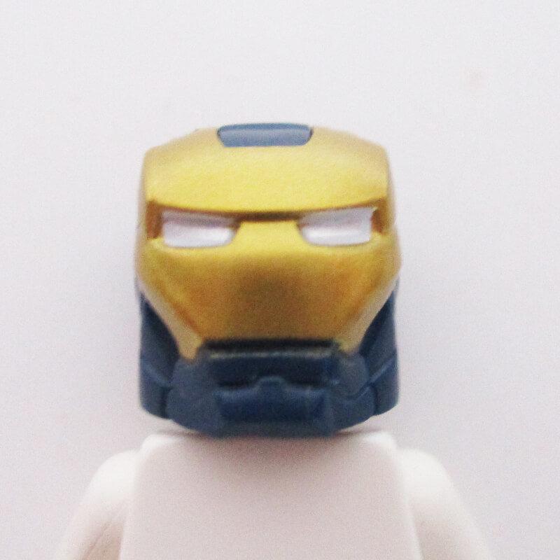 Ironman® Helm w/ Hinge - Dark Blue & Gold