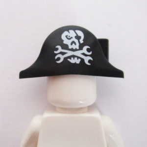 Pirate Hat w/ Skull & Spanners - Black