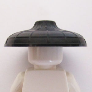 Asian Conical Hat w/ Raised Center - Black