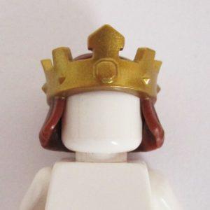 Gold Kings Crown w/ Brown Hair