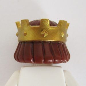 Gold Kings Crown w/ Brown Hair