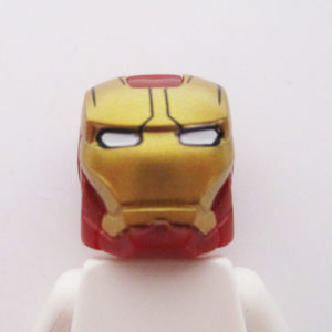 Ironman® Helm w/ Hinge - Dark Red & Gold