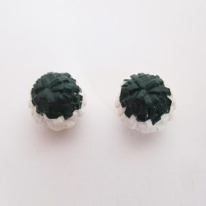 Cheerleader Pom Pom's - White & Dark Green