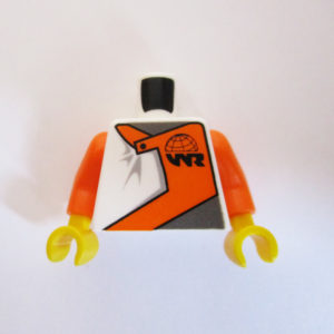 Orange, White & Grey Racing Suit w/ Globe Logo