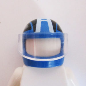 Standard Helm - Blue w/ White & Black Graphics