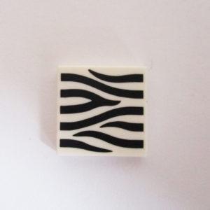 White Tile w/ Zebra Pattern