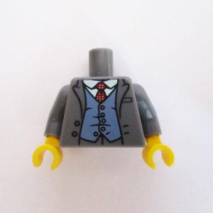 Dark Grey Jacket w/ Sand Blue Waistcoat, White Shirt & Tie