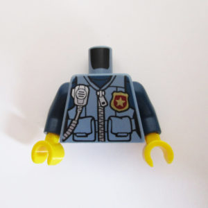 Dark Blue w/ Zipper, Radio, Canteen & Badge