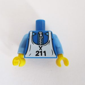 Blue w/ Zipper & White Bib w/ '211'