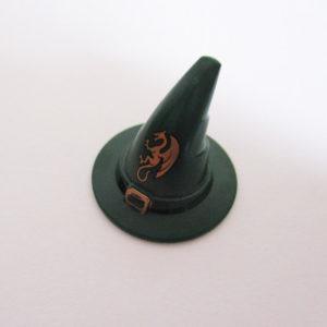 Wizard Hat - Dark Green w/ Belt & Gold Dragon