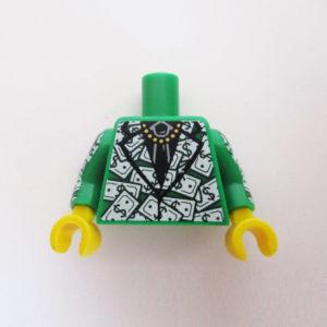 Green Jacket w/ Dollar Bills Design & Black Tie