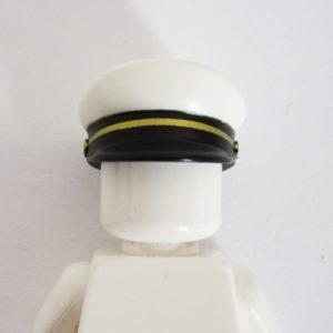 White, Black & Gold Captains Hat