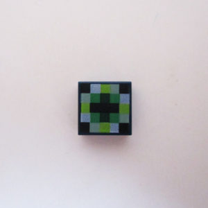 Dark Blue Tile w/ Pixelated Pattern
