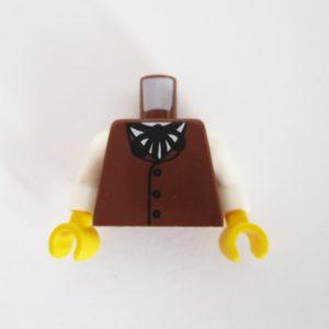 Brown Vest w/ White Shirt & String Tie