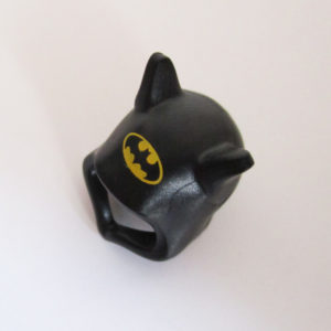 "Black w/ Ears & Yellow ""Batman"" Symbol"