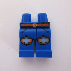 Blue w/ Knee Pads & Orange Belt