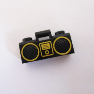 Boom Box ( Ipod ) - Black w/ Gold