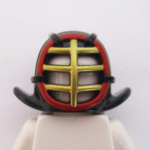 Kendo Helm - Black w/ Red & Gold