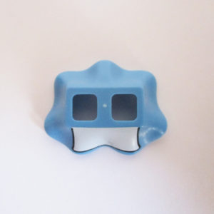 Wavy - Medium Blue w/ White Apron