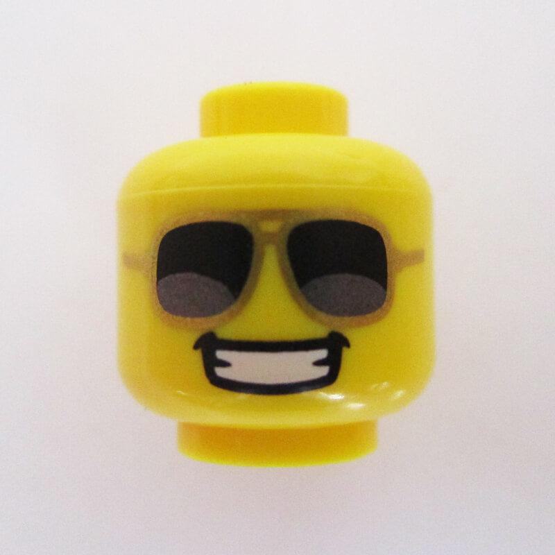 Big Grin, Gold Frames w/ Black Lenses