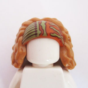 Ginger & Sand Green Headband w/ Bushy Light Brown Hair