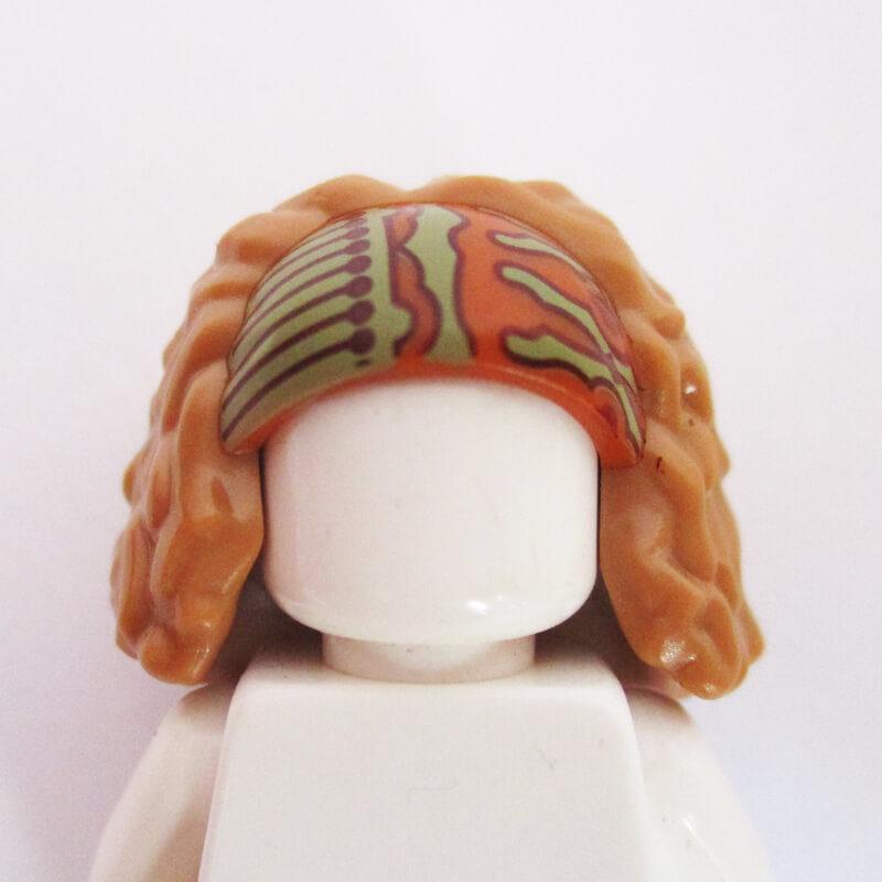 Ginger & Sand Green Headband w/ Bushy Light Brown Hair