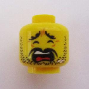 Dotted Stubble Beard w/ Mustache & Open Mouth